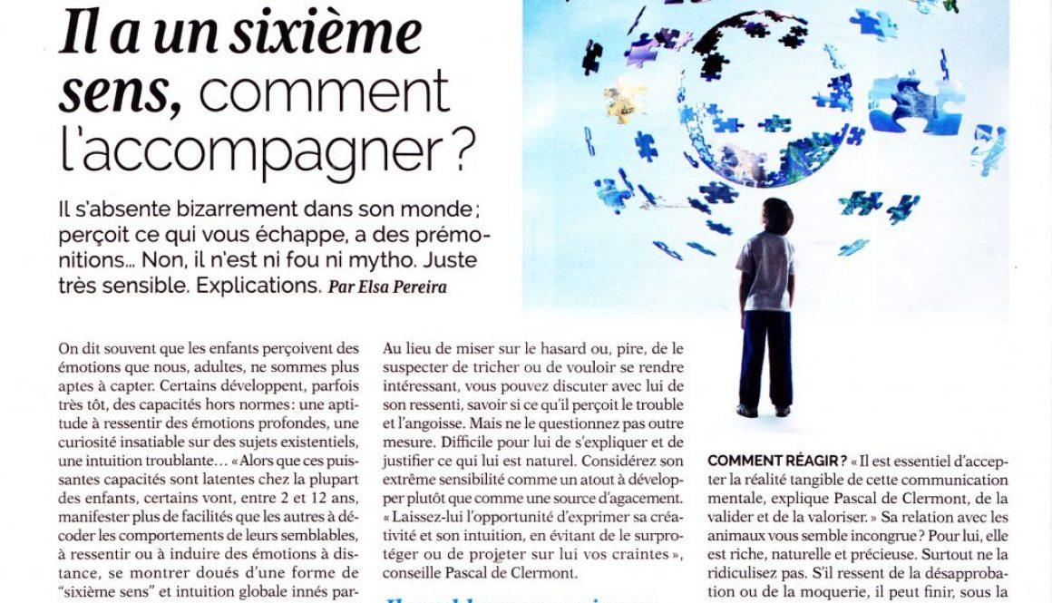Preview - Interview Pascal de Clermont sur Femme actuelle, consacré aux enfants hypermentalistes.