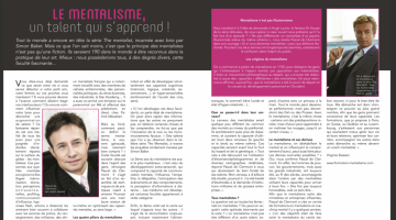 Le mentalisme, un talent qui s'apprend avec Pascal de Clermont.