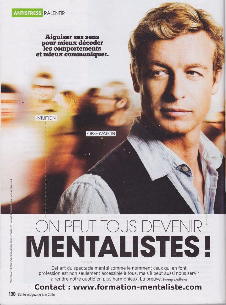 Santé Magazine - Interview du mentaliste Pascal de Clermont - page 1