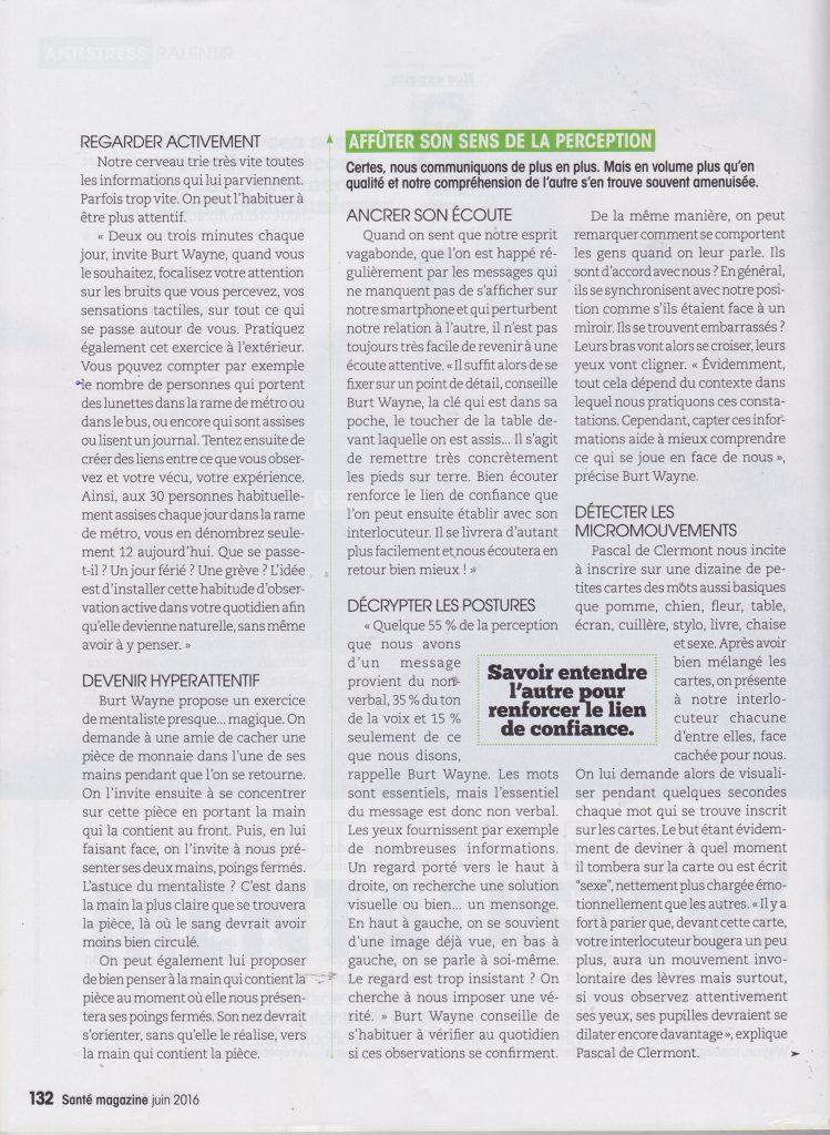 santé Magazine - Interview du mentaliste Pascal de Clermont - page 3